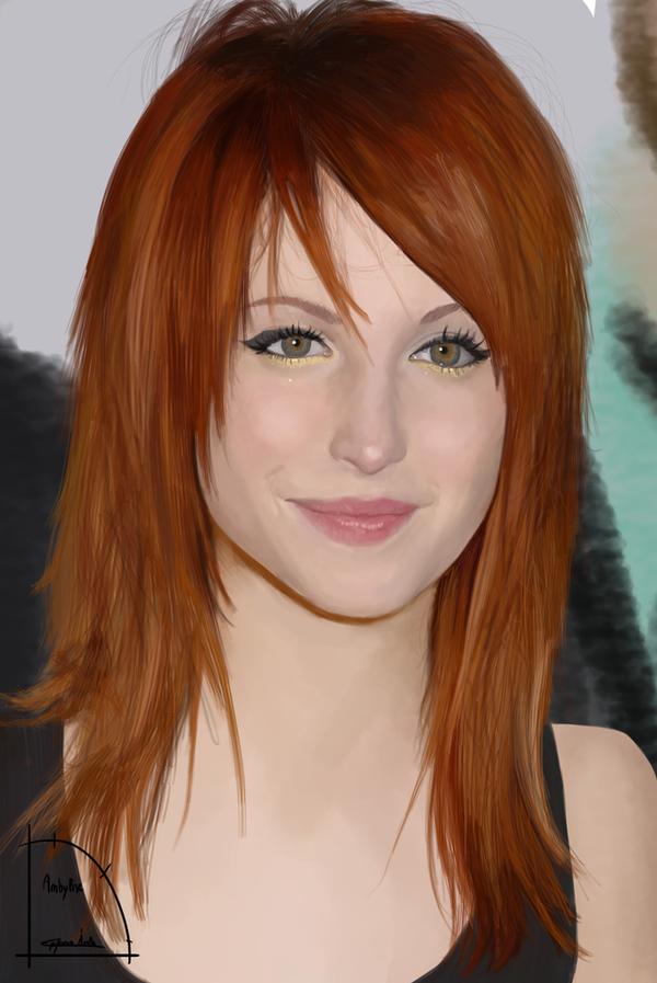 Hayley Williams Portrait - Dibujo - DigitalDrawing by