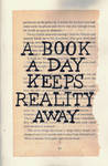 Typography #2 | A Book A Day Keeps Reality Away