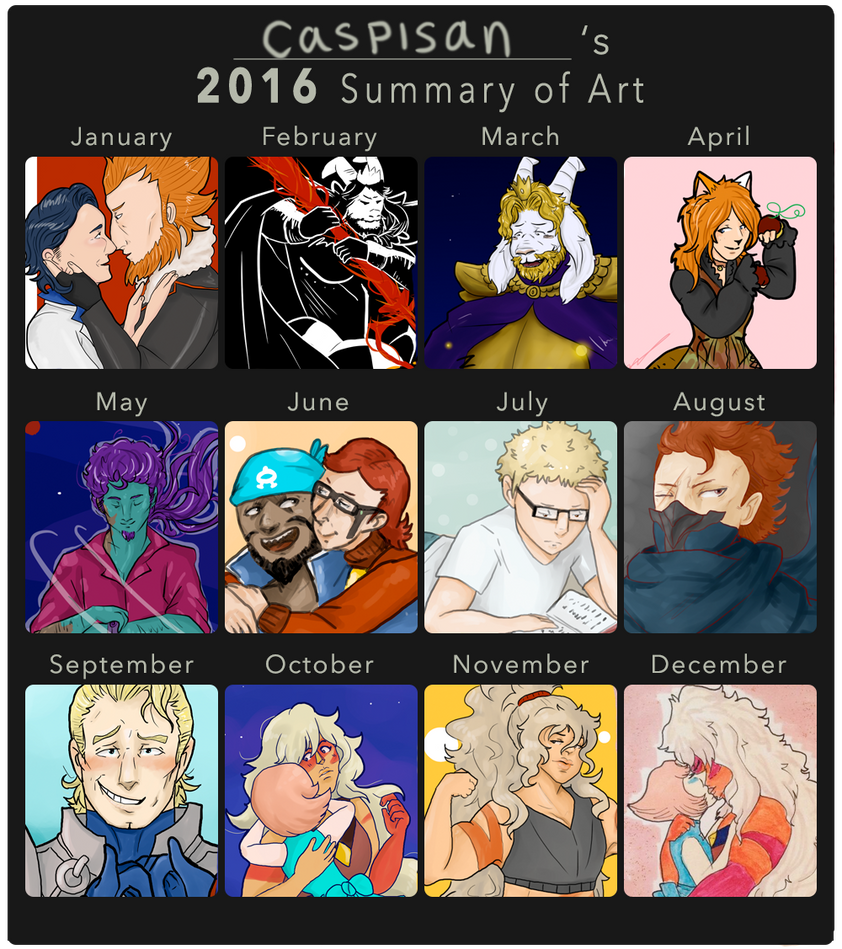 2016 Summary of Art by caspisan