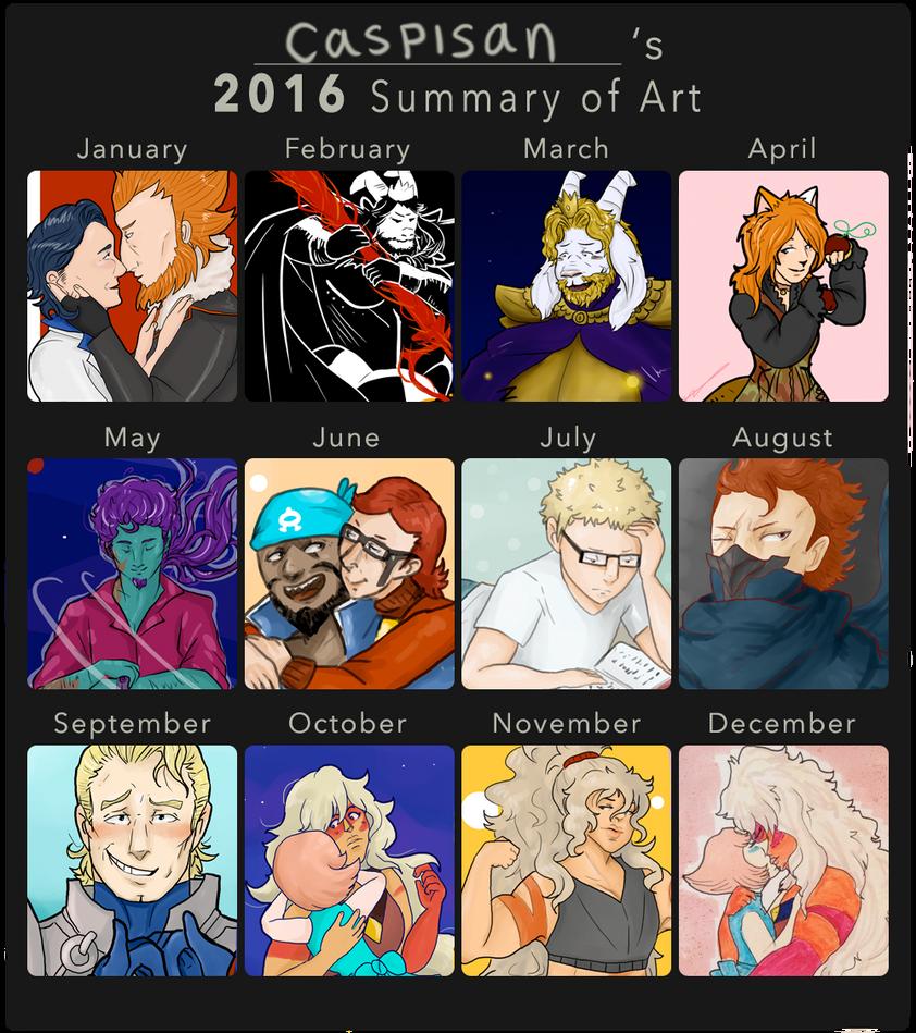 2016 Summary of Art by caspisan