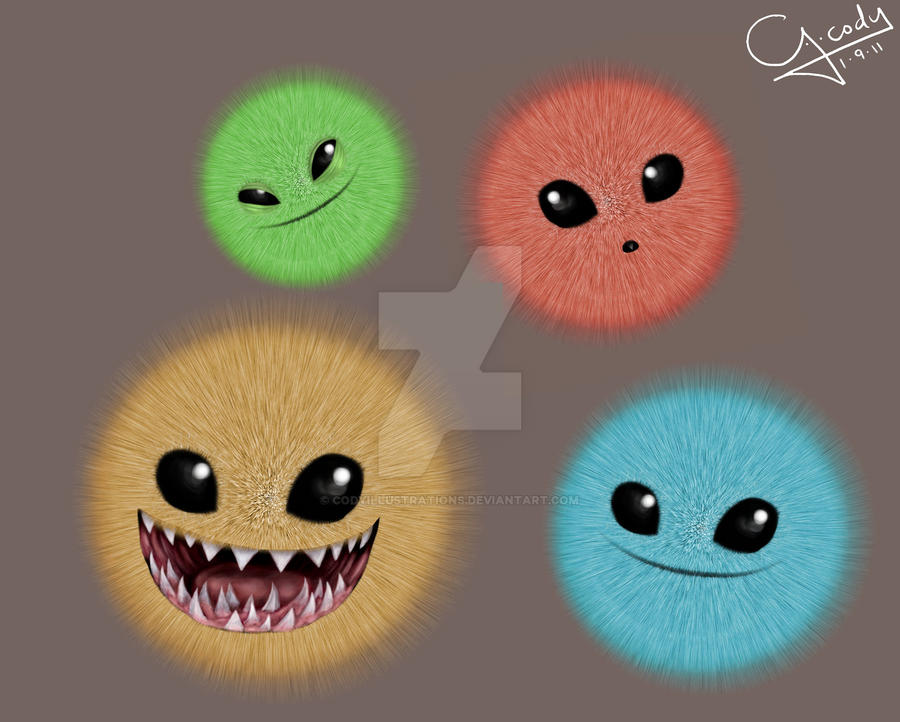 Fluffballs by CODYillustrations