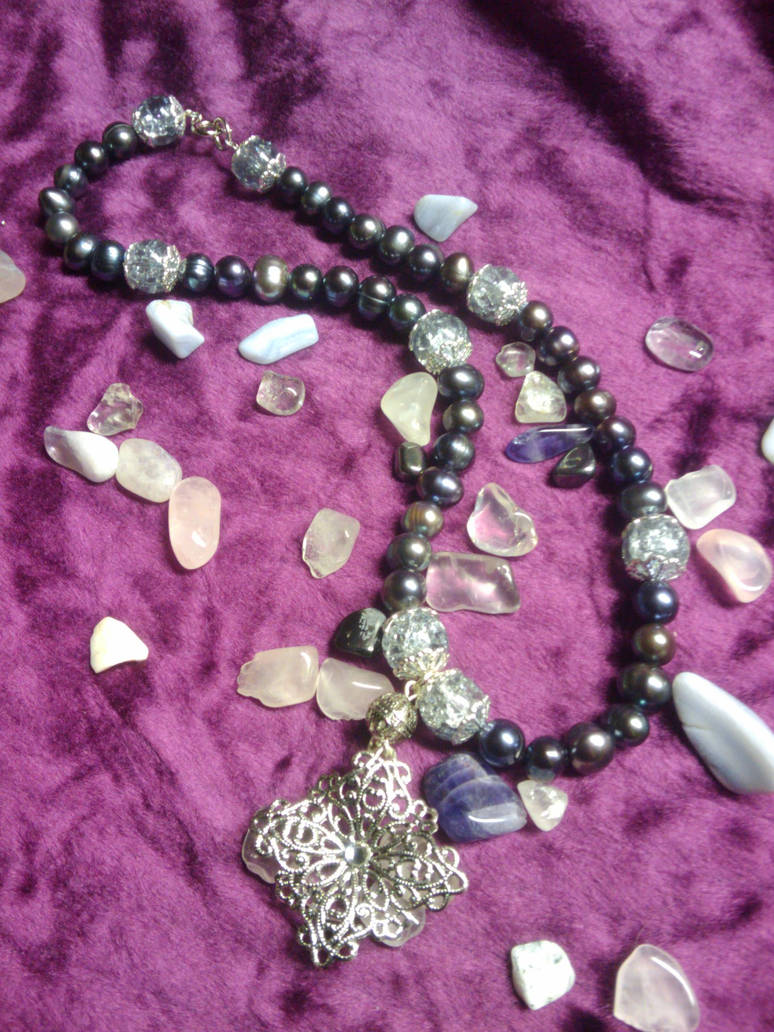 Silver filigree and Pearls