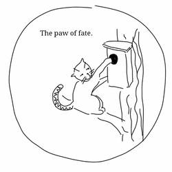 Ron thinks (86). The paw of fate