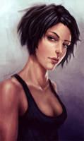 woman portrait by secrethaven