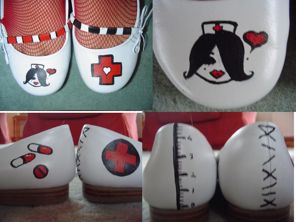 nurse shoes by lazyfox