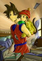Goku and Gohan by Jey09