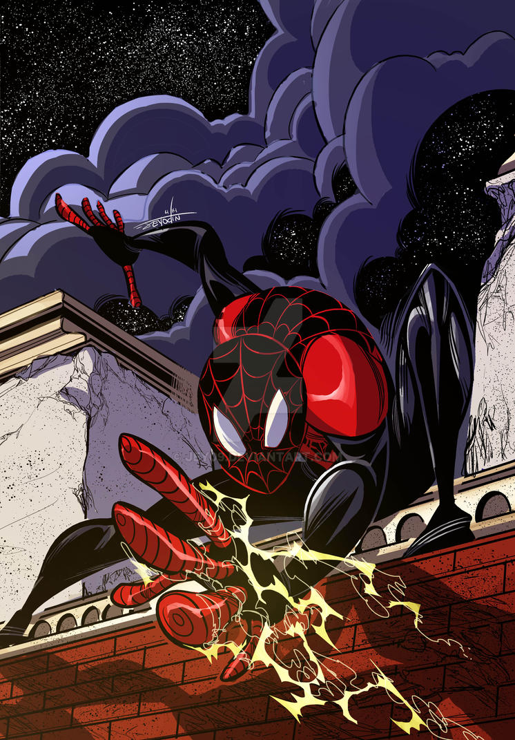 Ultimate Spiderman Miles Morales By Jey09 On Deviantart