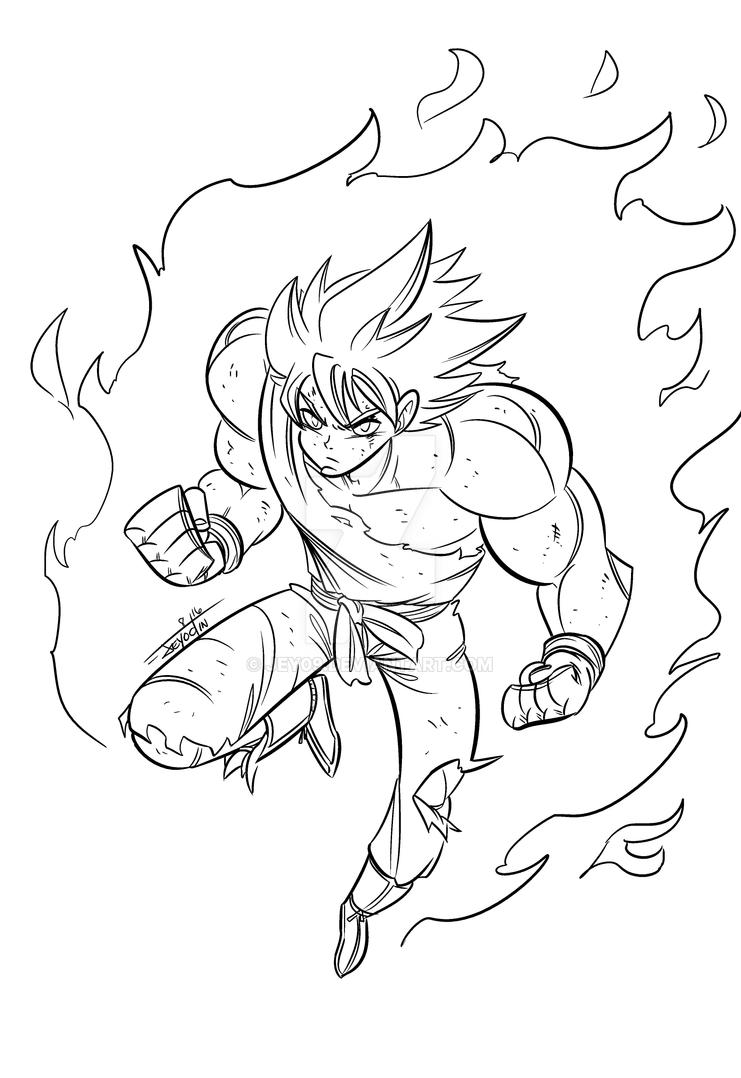 Goku Warm-up by Jey09