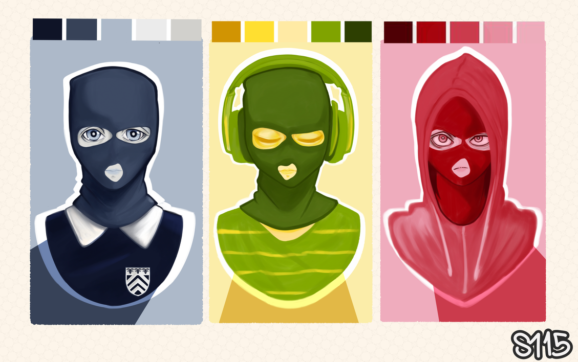 A hacker in different colors - Pallete Challenge by MaggotPsycho115