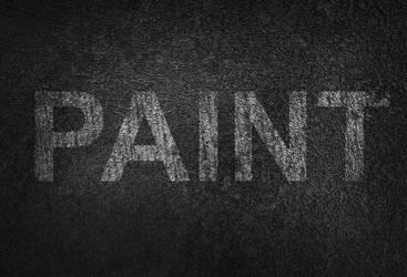 Scratched Paint Text