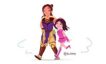 Shangtsung and Mileena