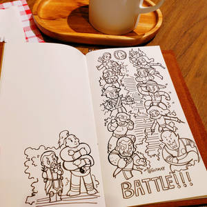 Doodle in cafe