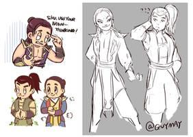 Shangtsung and Shujinko doodle