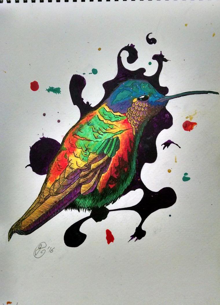 Hummingbird Redraw by Deniem