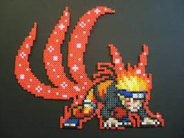 Kyubi Naruto Perler Beads by ShampooTeacher