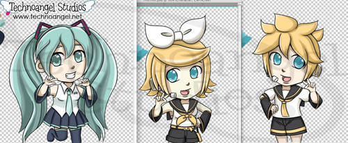 Vocaloid chibis by technoangelstudios