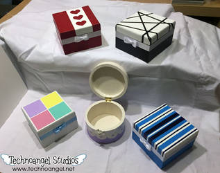 Handpainted boxes 1 by technoangelstudios