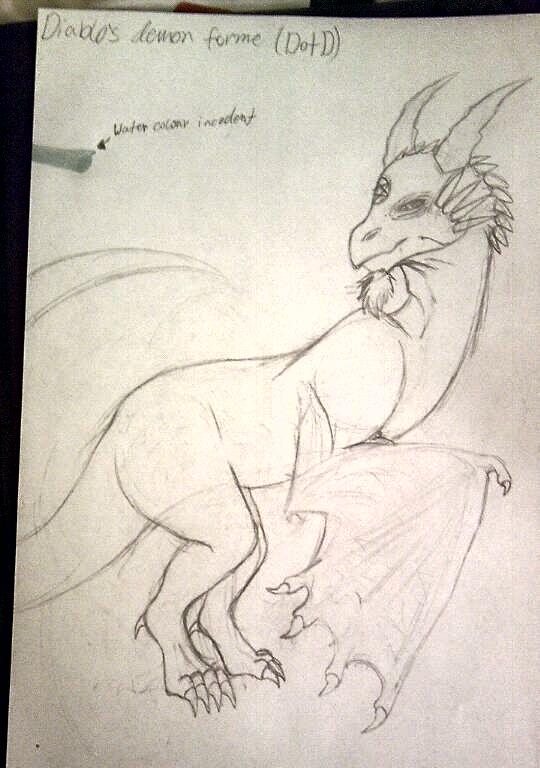 Diablo's demon forme sketch by demonxdwolfxd