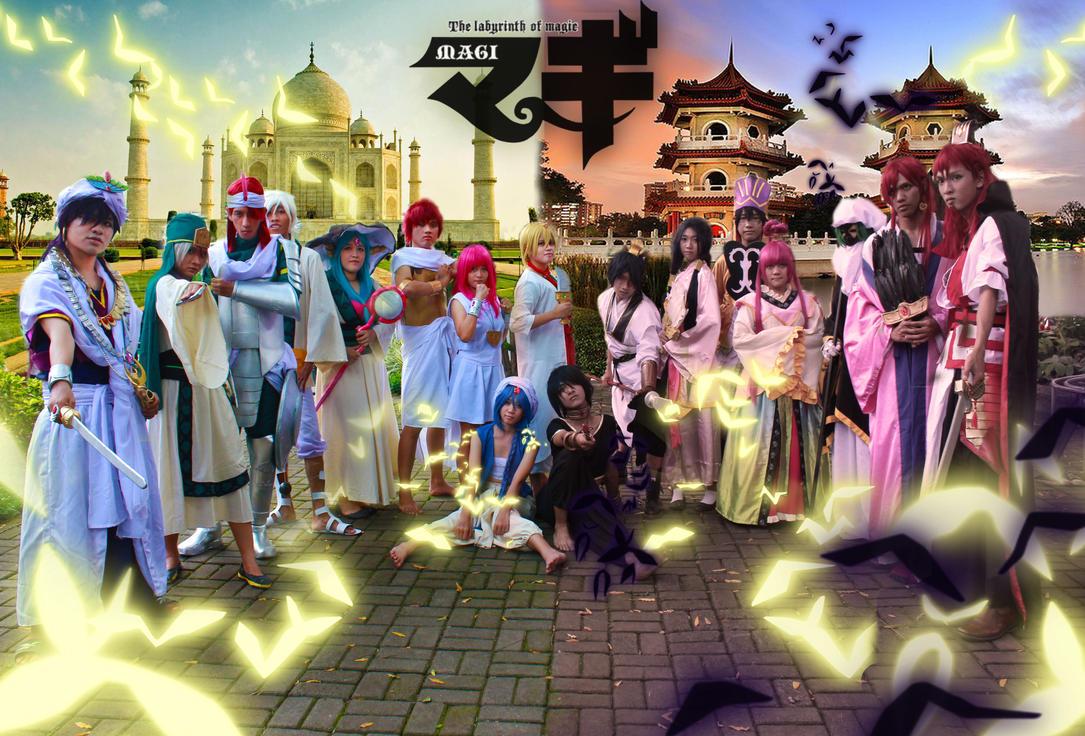 Magi  cosplay : sindria kingdom vs kou empire by faisaluzumaki