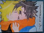Sasuke and Naruto. Yaoi