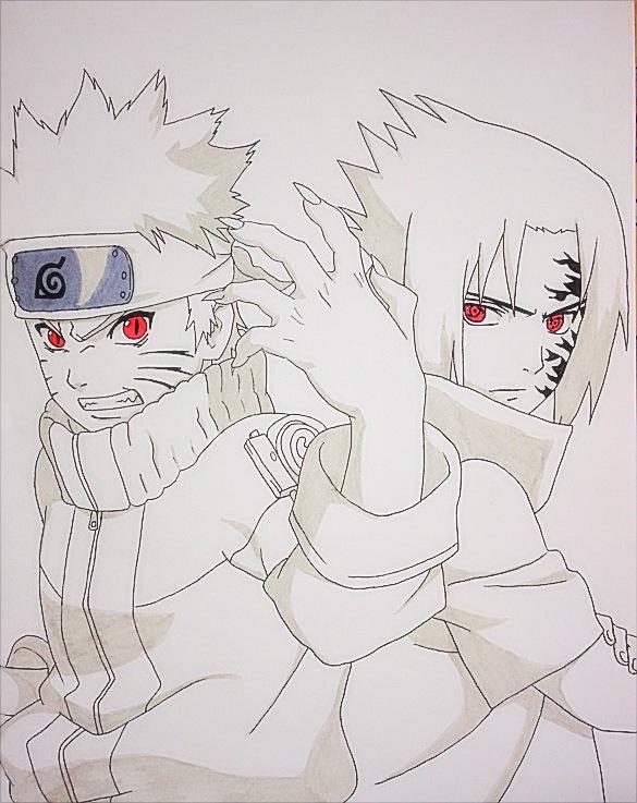 Naruto vs Sasuke by JoJoAsakura