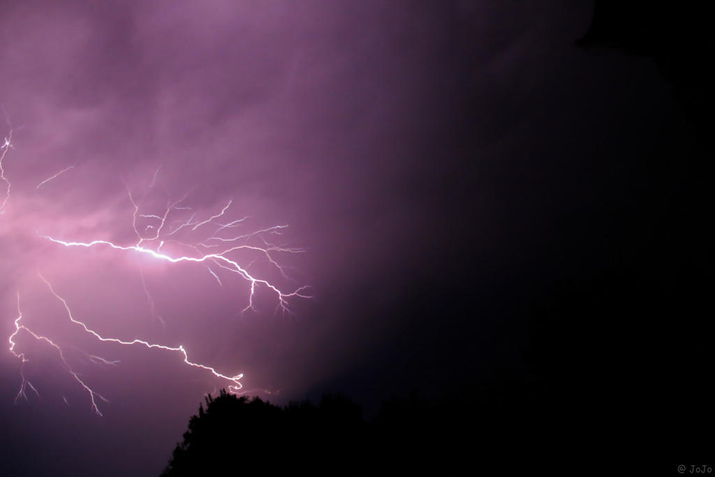 { Thunder and lightning }