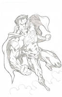 super man pinup by johndinc