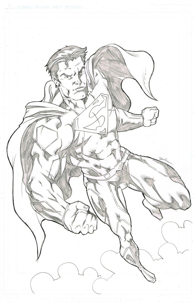 super man pinup by johndinc