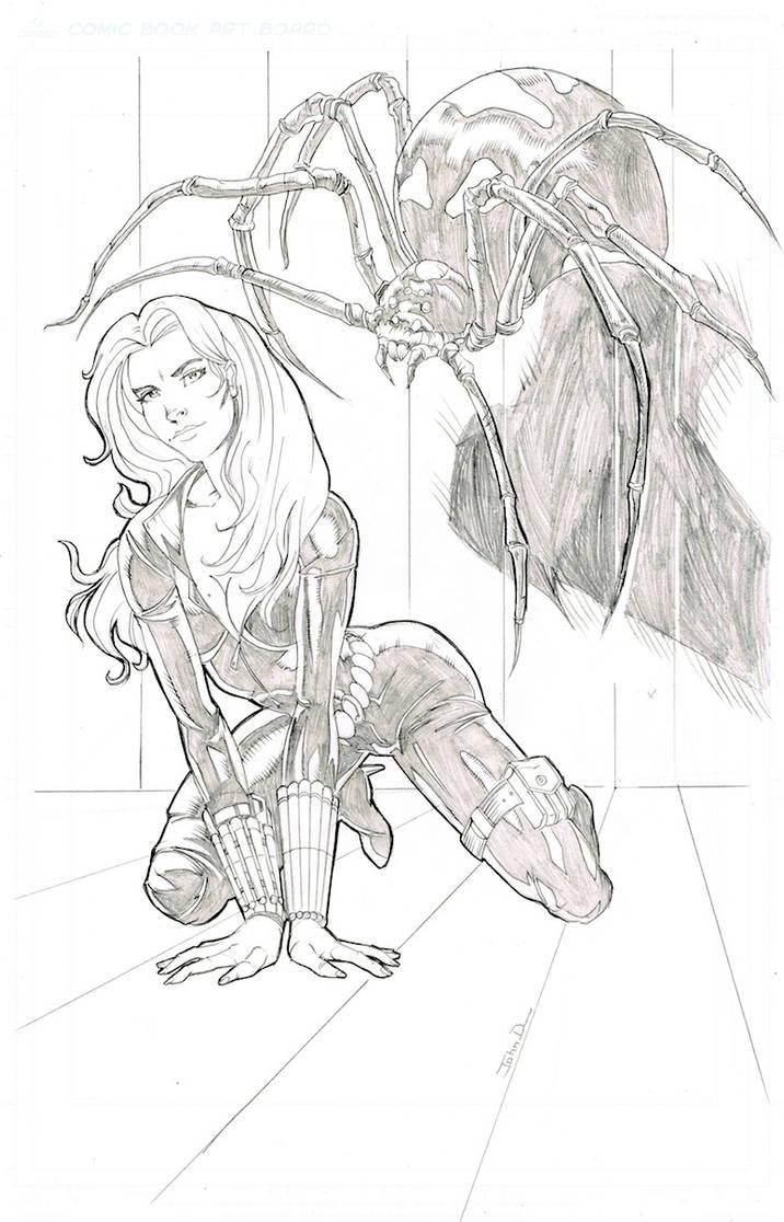 black widow by johndinc