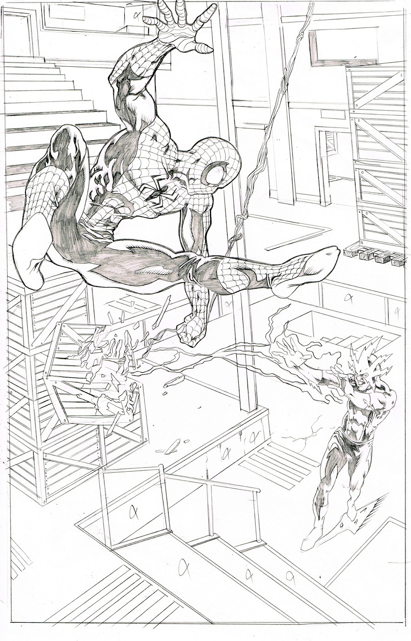 spiderman and electro by johndinc