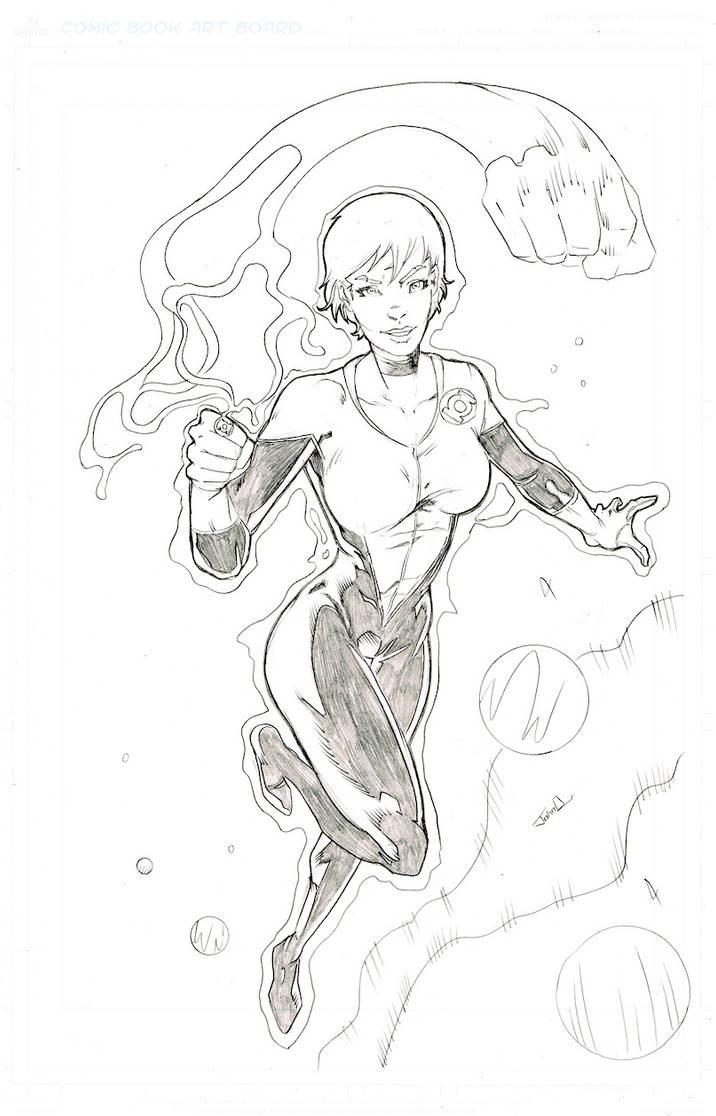 lantern girl by johndinc