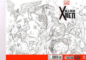 X-men blank cover art by johndinc