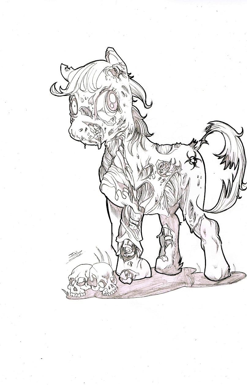 Pony zombie by johndinc