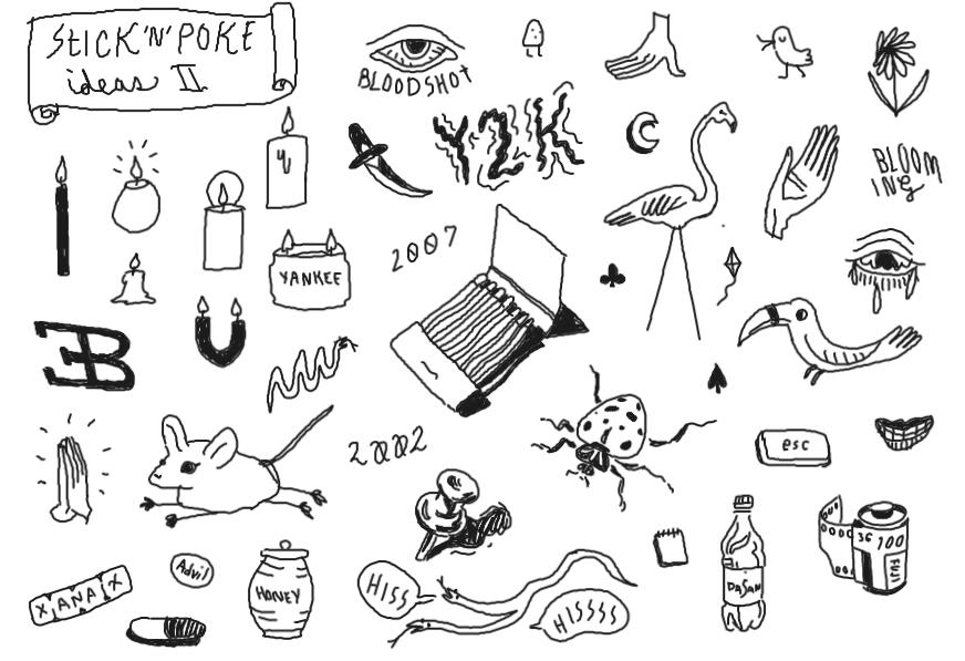 how to make a stick n poke stencil
