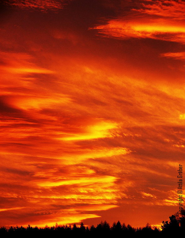 burning sky by Attila-G