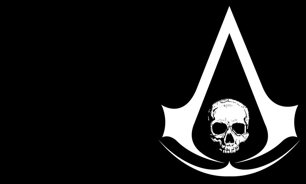 Assassin S Creed 4 Black Flag Skull Logo By Ceekaysickart On