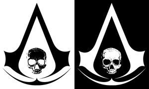 Assassin's Creed 4 Black Flag Skull Logo