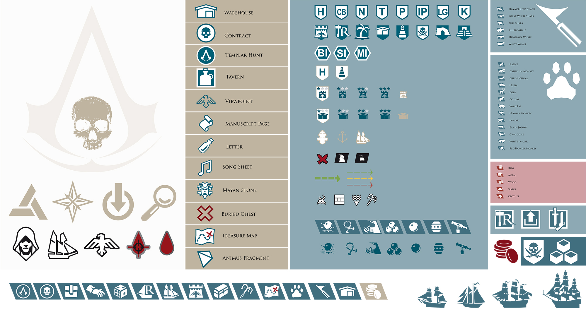 Assassin S Creed 4 Black Flag Ingame Icons By Ceekaysickart On
