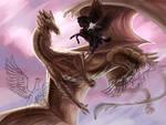 Dragon hunt WIP by Kaninkompis
