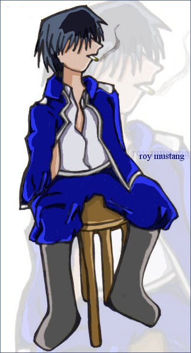 Smoking Roy..oh dang. xD