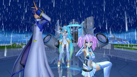 Kaito, Princess Miku and Nanoko - Dream Fighter by Nikazuki