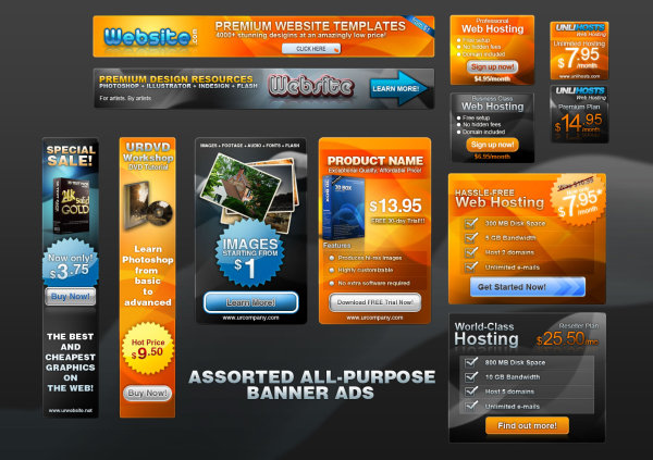 Free PSD Web Banner Box Templates by FreeIconsdownload