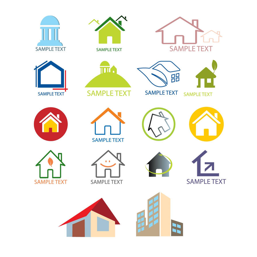 House logo design templates vector by freeiconsdownload on for Monogram homes floor plans