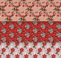 3 Hand Drawn Christmas Floral Seamless Backgrounds by FreeIconsdownload