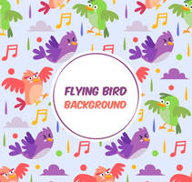 Cartoon Flying Bird Vector Background by FreeIconsdownload