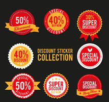 8 Circular discount Stickers vector collection by FreeIconsdownload