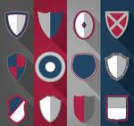 12 Creative Shield Icon Vector Material