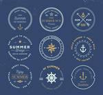 9 Circular Summer Holiday Vector Labels