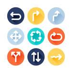9-color-circular-arrow-icon-vector-materials