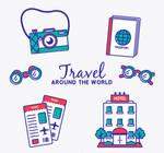 6 Creative Globe Travel Elements Vector